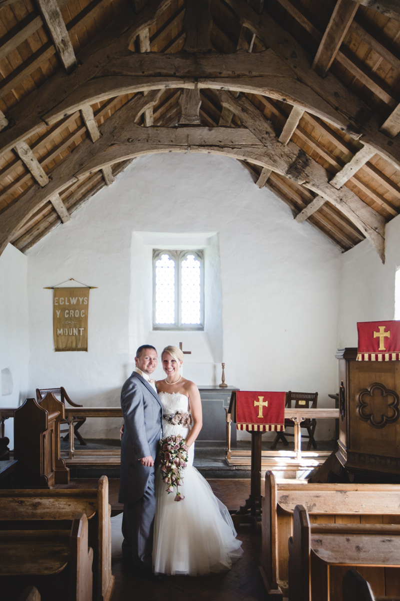 Mwnt Church by Whole Picture Weddings