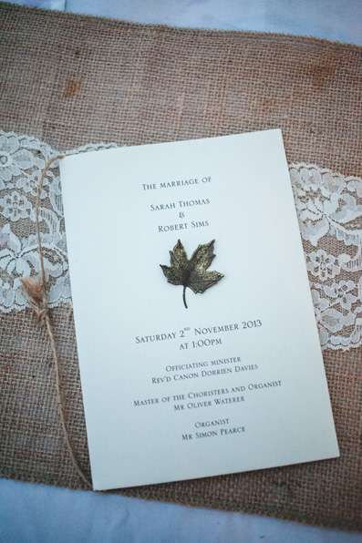 Autumn wedding at St David's  Cathedral by Whole Picture Weddings