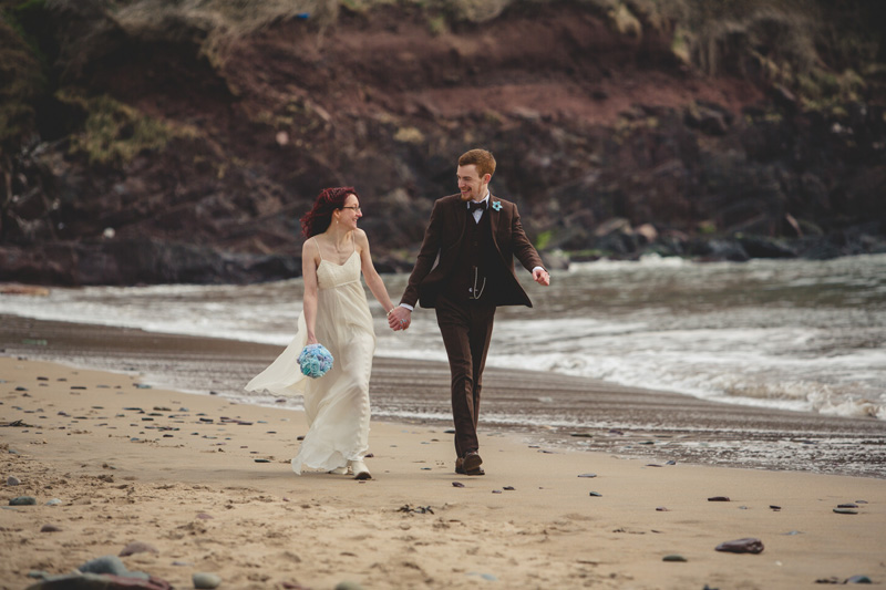 Wedding at Manorbier beach by Whole Picture Weddings