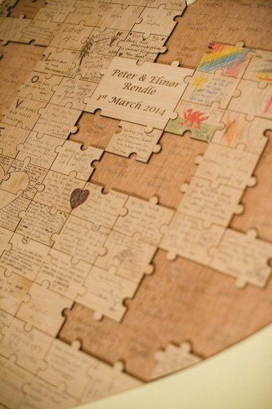 Puzzle piece guestbook | Spring wedding at Rhosygilwen by Whole Picture Weddings