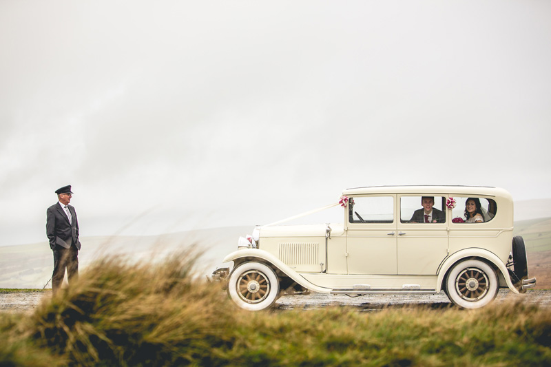 1929 REO Flying Cloud from Top Class Cars | Autumn wedding at Wolfscastle hotel by Whole Picture Weddings