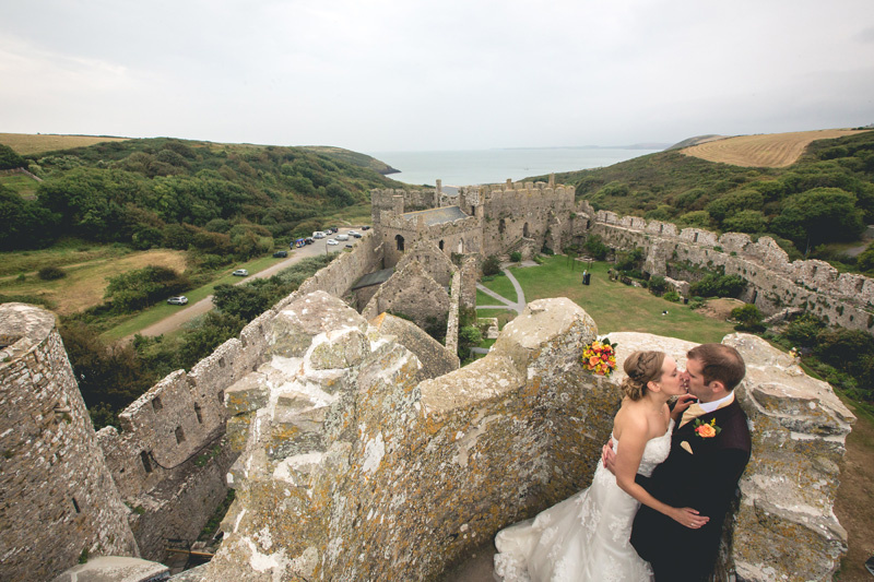 Beth and Robin's autumn wedding at Manorbier Castle