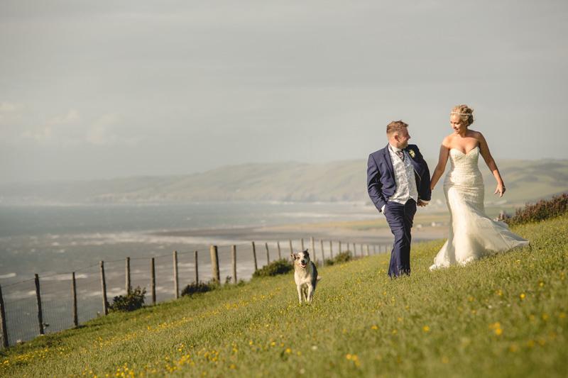Llinos and Dylan's coastal wedding