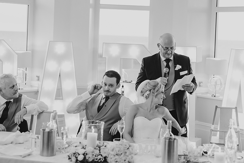 Winter wedding at The Cliff Hotel by Whole Picture Weddings
