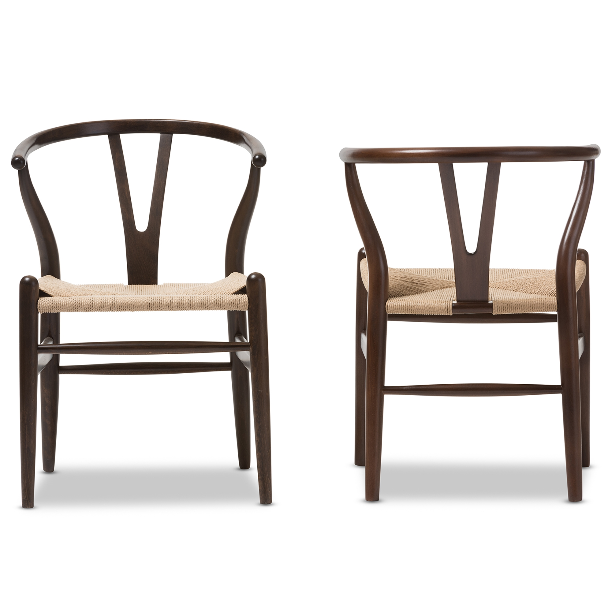 Wishbone Chairs Wishbone Chair Dark Brown Wood Y Chair Wholesale Interiors