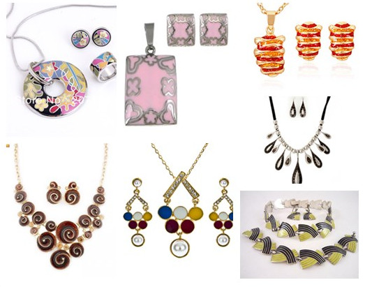enamel jewelry sets