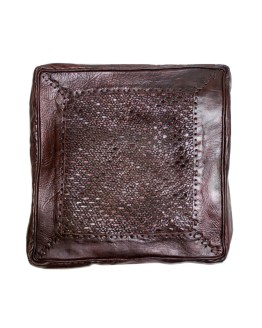 Brown plexus Square Ottoman-0