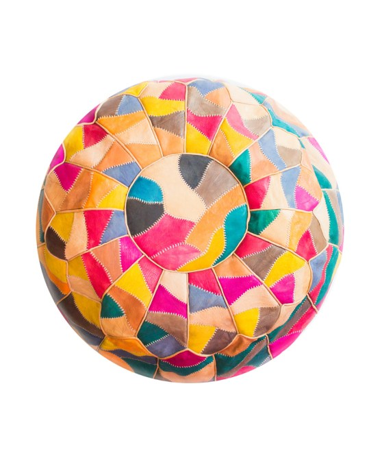 Multi Colors Mosaic Pouf-0