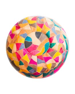 Multi Colors Mosaic Pouf-0