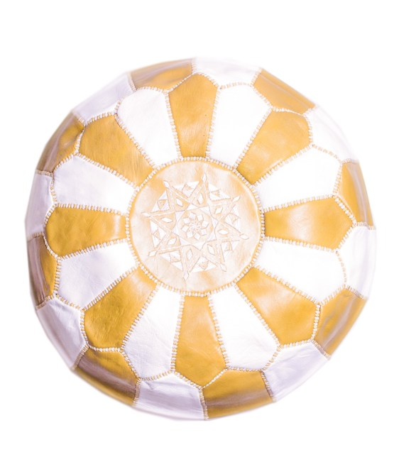 White-Golden Mix Pouf-0