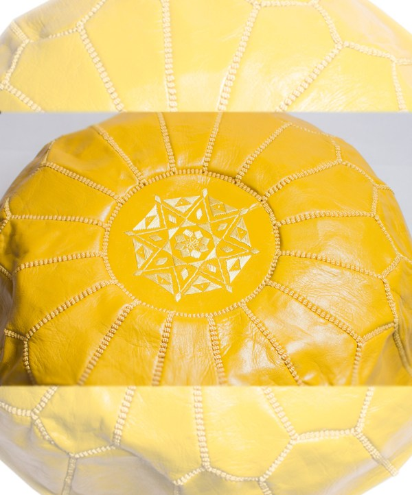 Yellow Classical Pouf-2503