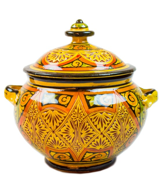 Ceramic Soup Tureen with his Bowls-2956