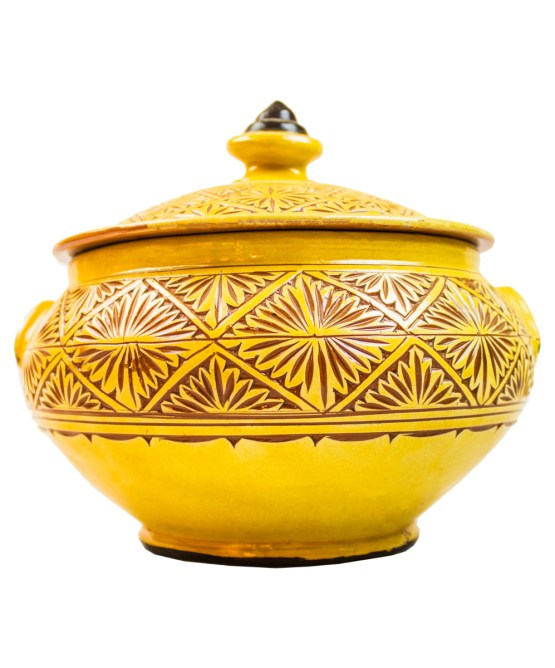 Ceramic Soup Tureen with his Bowls-2949