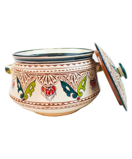 Ceramic Soup Tureen with his Bowls-2958