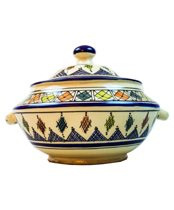 Ceramic Soup Tureen with his Bowls-2969