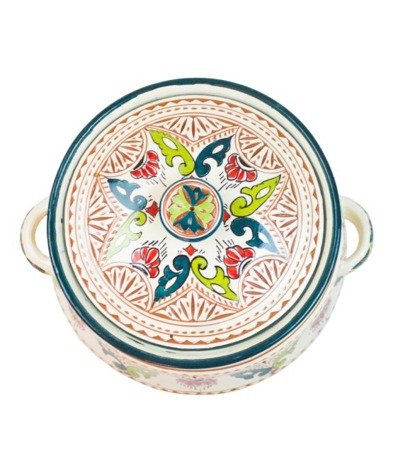 Ceramic Soup Tureen with his Bowls-2959