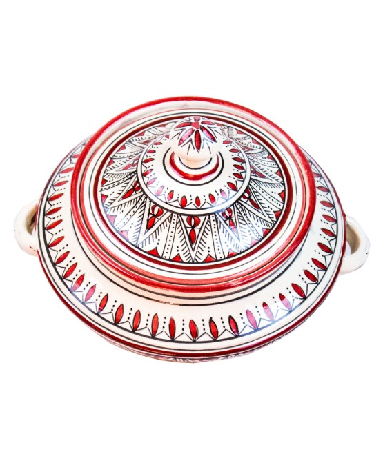 Ceramic Soup Tureen with his Bowls-2966