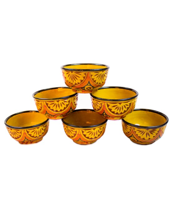 Ceramic Soup Tureen with his Bowls-2954