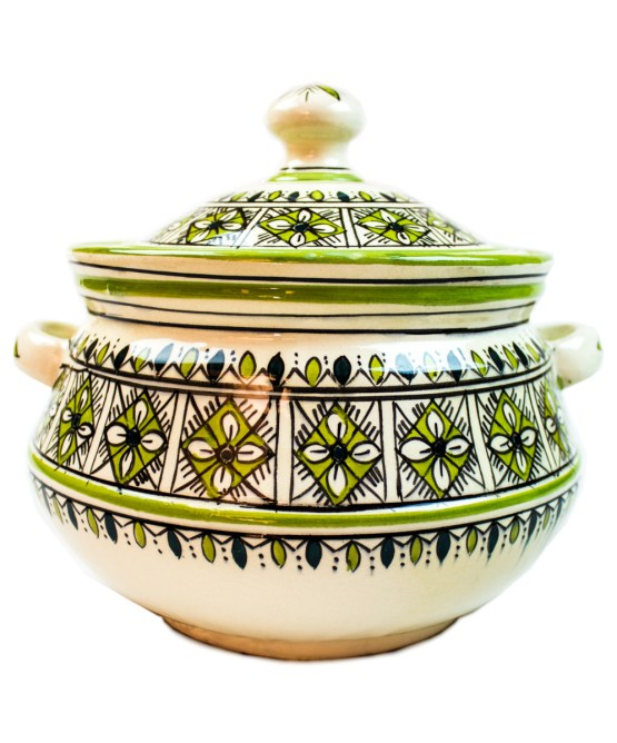 Ceramic Soup Tureen with his Bowls-2972
