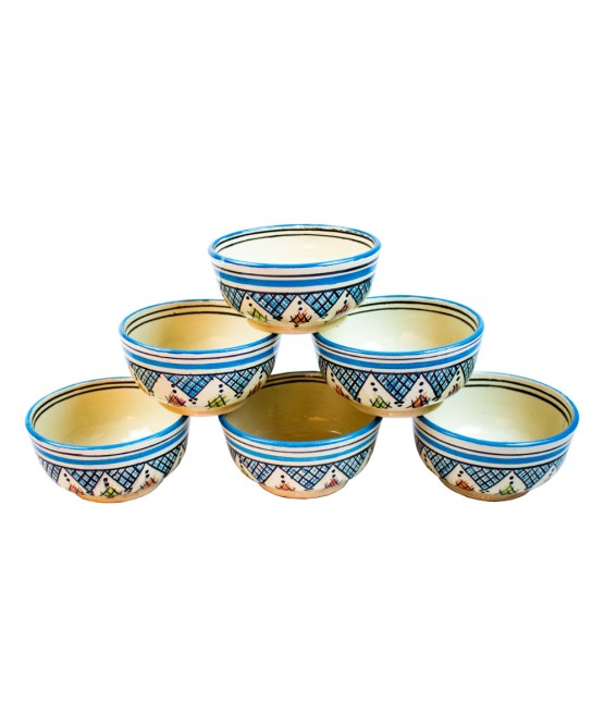Ceramic Soup Tureen with his Bowls-2942