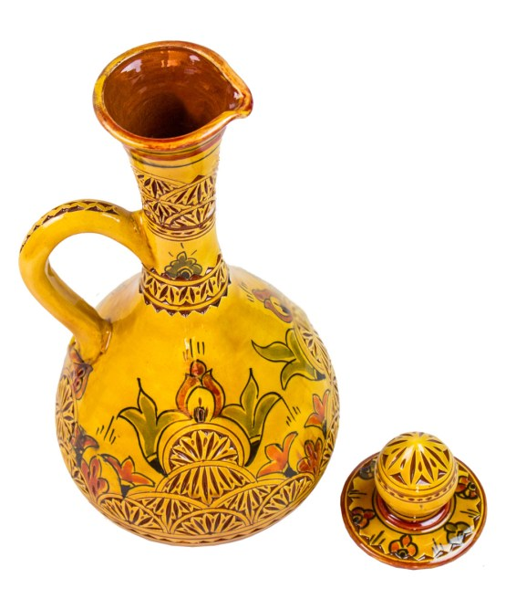 Pitcher Engraved in yellow with his Cup -0