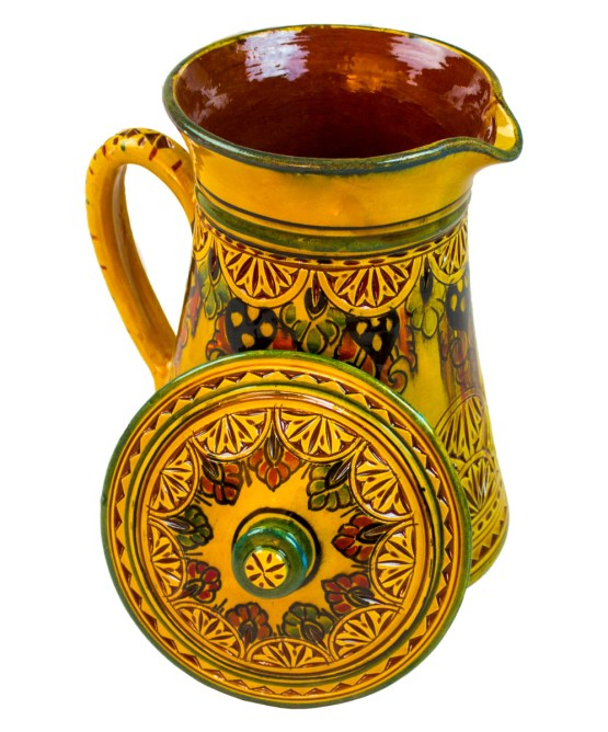 Collection Ceramic Jug Engraved in yellow-3025