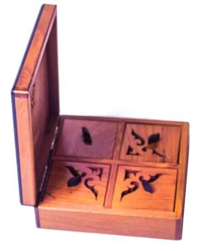 Square wood box SWJB-19-0