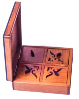 Square wood box SWJB-19-0