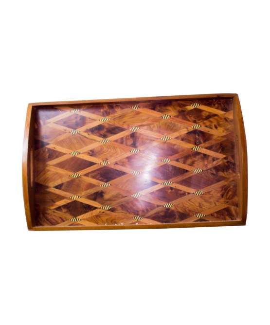 Tray Set made of thuya wood WP-15WT-3287