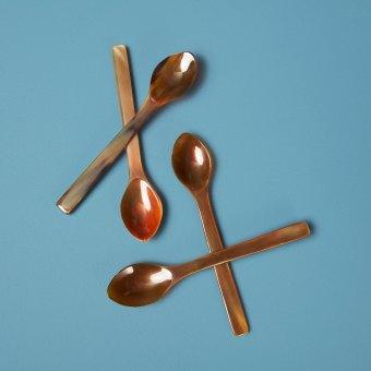 Horn Spoons Medium, Set of 4