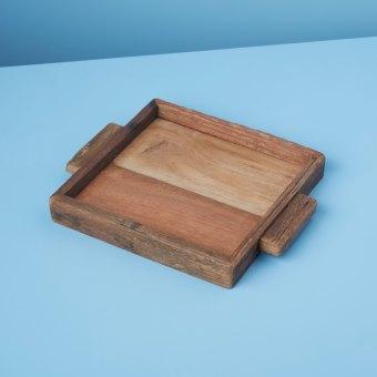 Reclaimed Wood Tray Rectangular XL