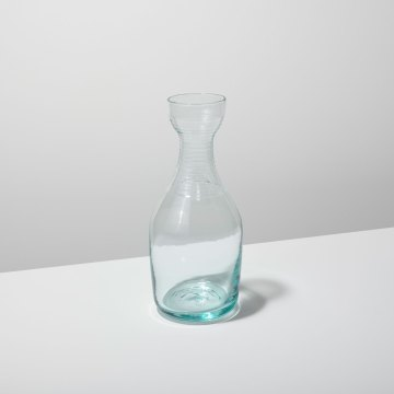 Recycled Glass Ripple Carafe Tall