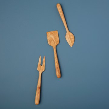 Teak Cheese Set of 3