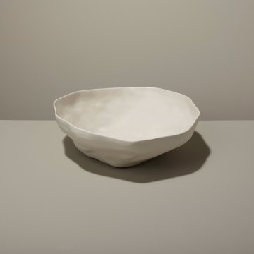 Stoneware Serving Bowl, White