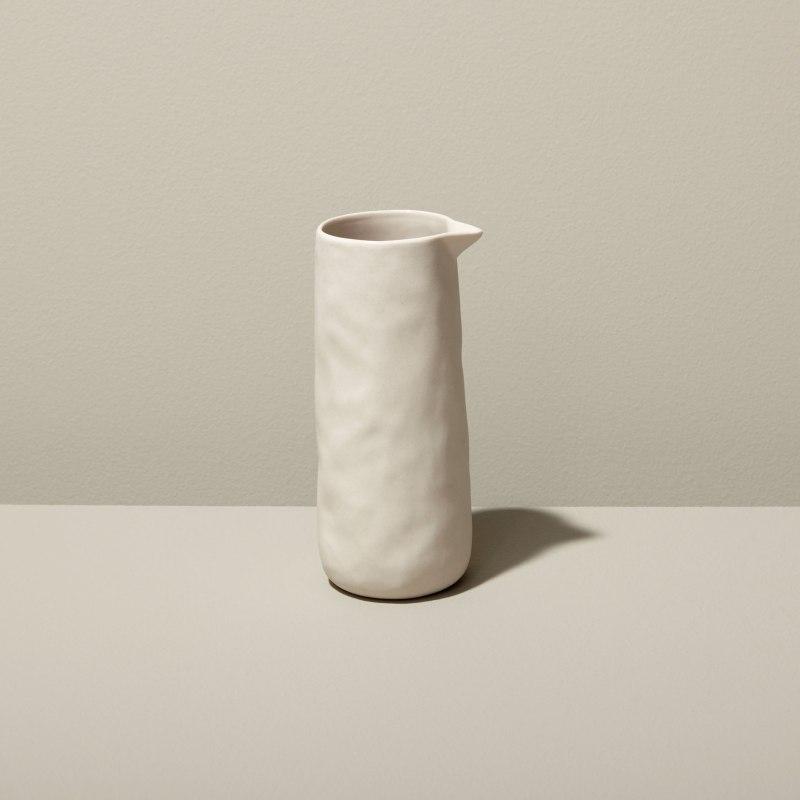 Stoneware Pitcher White, Small