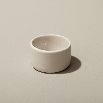 Stoneware Round Cellar, White