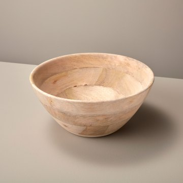 Natural Mango Wood Bowl Large