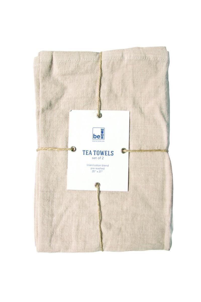 Linen Tea Towels Birch Set of 2