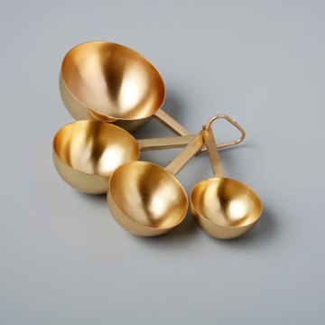 Gold Measuring Cups Set of 4