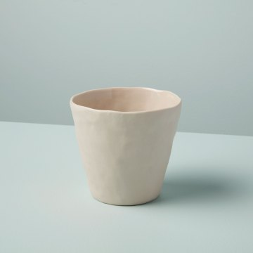 Stoneware Planter, White, Small