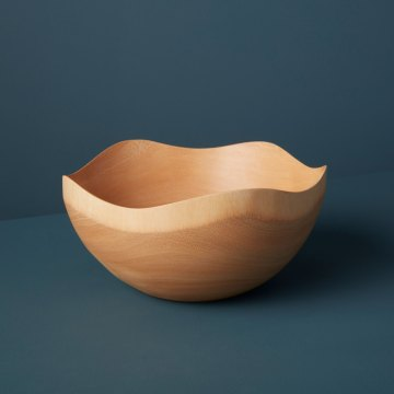 Mango Wood Wave Edge Bowl Large