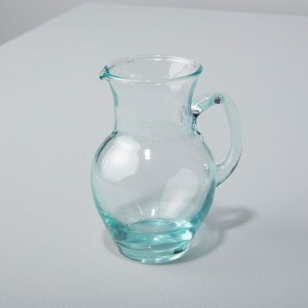 Recycled Glass Footed Champagne