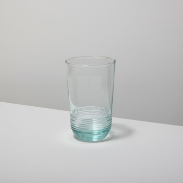 Recycled Glass Ripple Tumbler, Tall