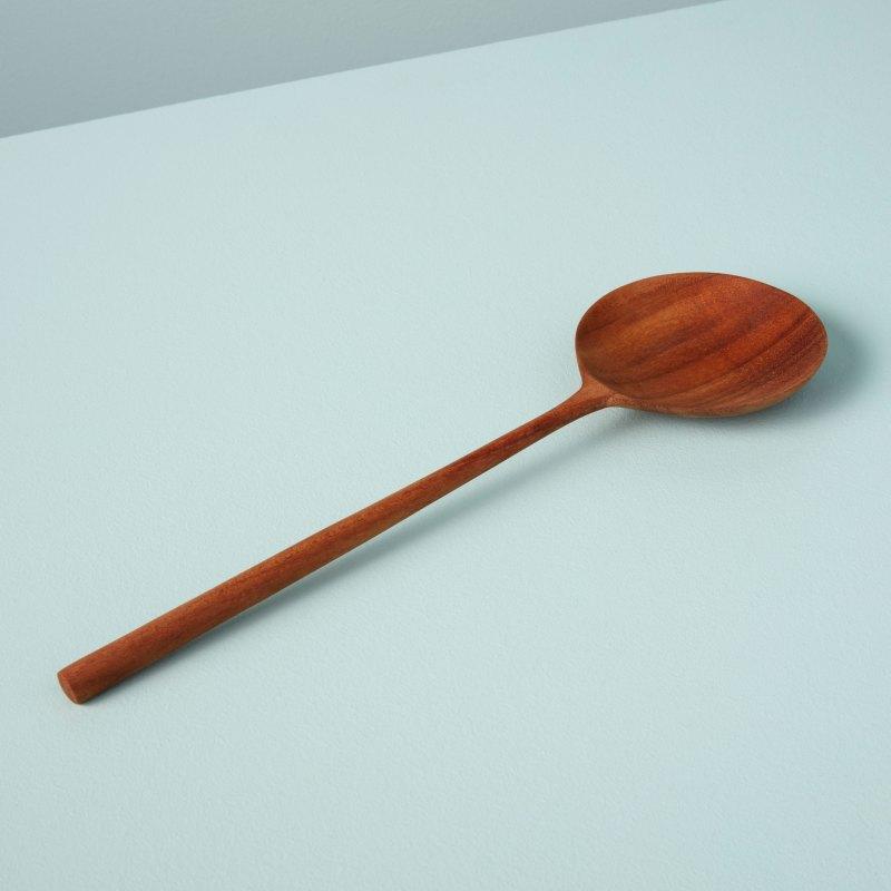 Teak Round Spoon