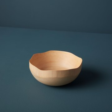 Mango Wood Wave Edge Bowl Small