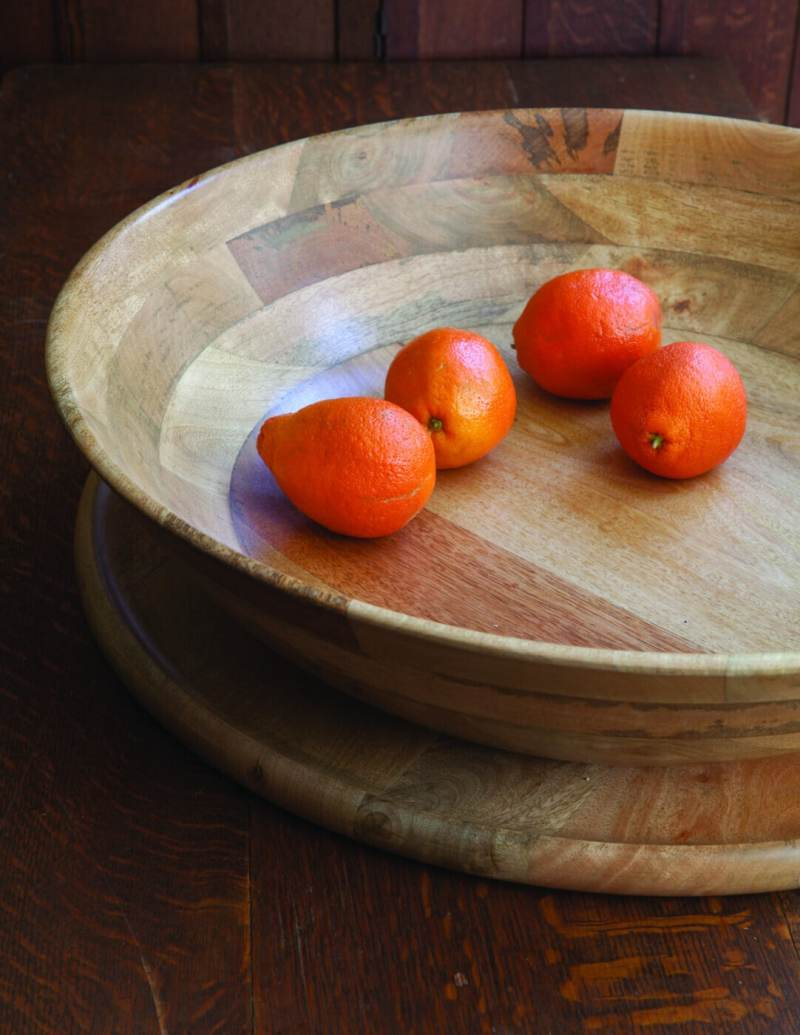 Mango Wood Round Bowl XL