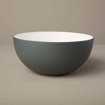Aluminum & Enamel bowl, Medium