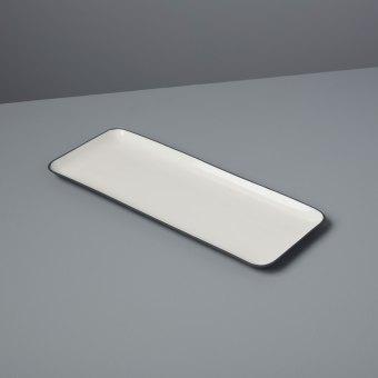 Aluminum & Enamel Round Platter, Large
