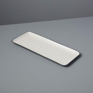 Aluminum & Enamel Rectangular Platter, Small