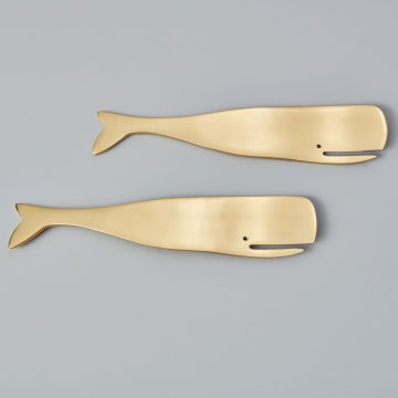 Whale Serving Set Gold